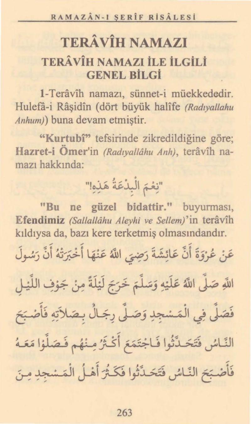 Teravih Namazının Faziletleri  / Cübbeli Ahmet Hoca - Ramazan-ı Şerif Risalesi