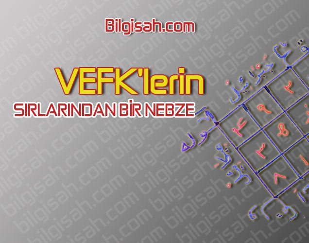 VEFK'LERİN SIRLARINDAN BİR NEBZE FAYDA
