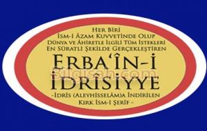 Esmai Erbain-İdrisiye Fazileti