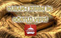 KURAN-I KERİM'İN DÖRTLÜ VEKFİ